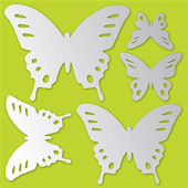 Butterflies Peel and Stick Mirror Set