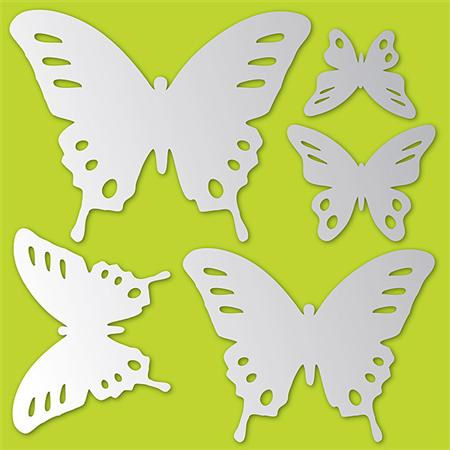 Butterflies Peel and Stick Mirror Set - Wall Sticker Outlet