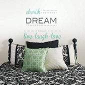 Cherish Dream Live Wall Quote Decal