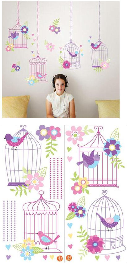 Chirping the Day Away Peel and Stick Decals - Wall Sticker Outlet