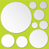Dots Peel and Stick Mirror Set