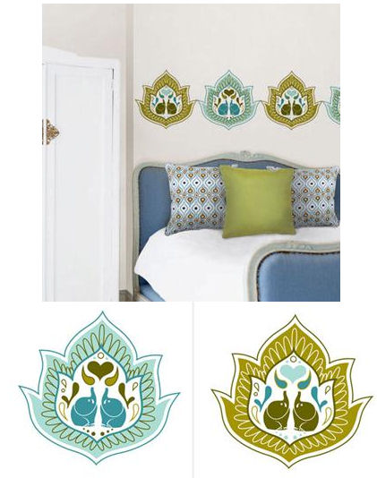 Jonathan Adler Elephant Paisley Wall Dots - Wall Sticker Outlet