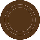 Wall Pops Espresso Brown Sticker Concentric Dots