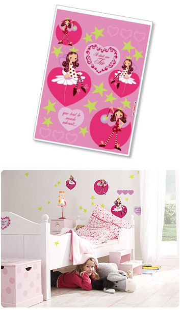 Komar Fairy Peel and Stick Wall Sticker - Wall Sticker Outlet