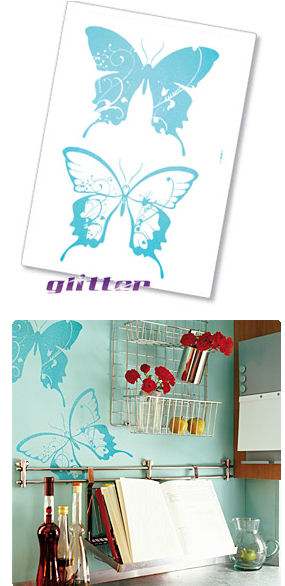 Komar Farfalle Peel and Stick Wall Sticker - Wall Sticker Outlet