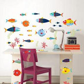 Fish Tales Peel and Stick Decals
