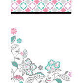 Floral Medley Message Board Dry Erase Decal