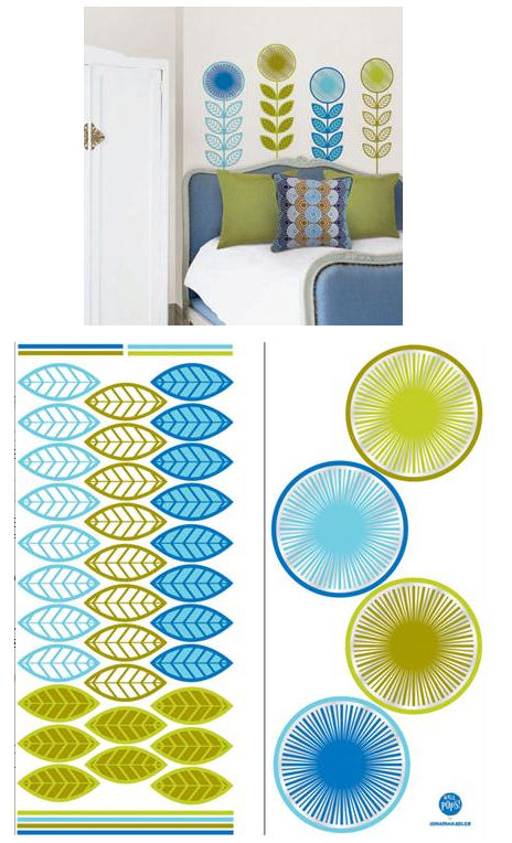 Jonathan Adler Flower Garland Decal Kit - Wall Sticker Outlet