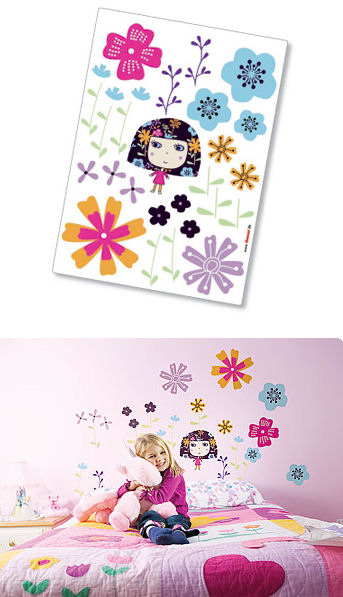 Komar Flowerine Peel and Stick Wall Sticker - Wall Sticker Outlet