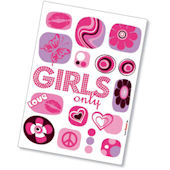 Komar Girls Only Peel and Stick Wall Sticker