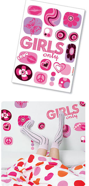 Komar Girls Only Peel and Stick Wall Sticker - Wall Sticker Outlet