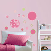 Wall Pops Gone Dotty Pink Green Mini Pops