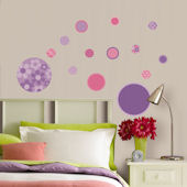 Wall Pops Gone Dotty Purple Pink Mini Pops