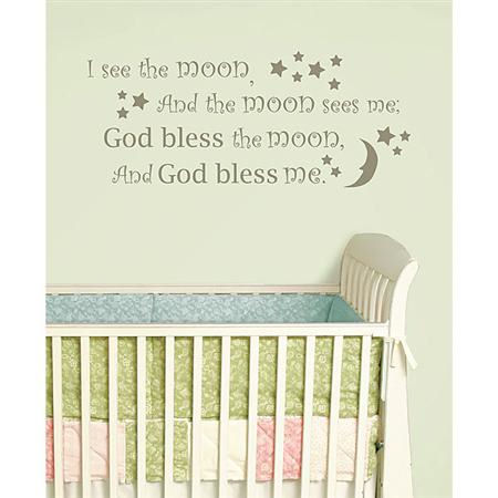 I See The Moon Wall Wishes Sticker - Wall Sticker Outlet
