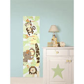 Jungle Friends Peel and Stick Growth Chart