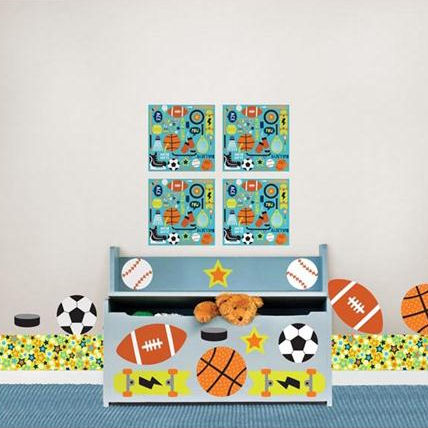 Junior Varsity Sports Complete Room Package - Wall Sticker Outlet