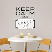 Keep Calm Dry Erase Wall Quote Decal