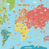 Kids World Dry Erase Map