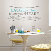 Laugh Out Loud Wall Quote Decal