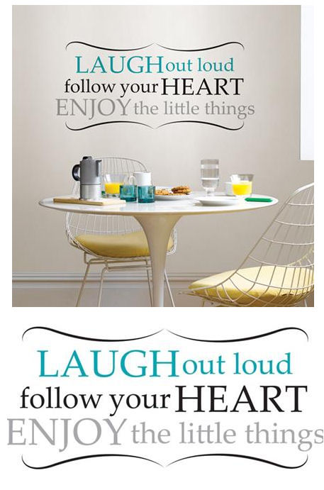 Laugh Out Loud Wall Quote Decal - Wall Sticker Outlet