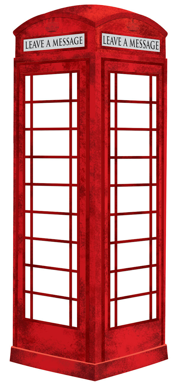 London Phone Booth Dry Erase Decal