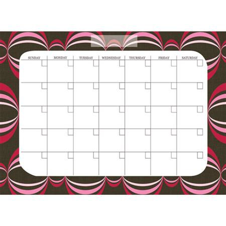 Loopy Red Monthly Calender Wall Sticker - Wall Sticker Outlet