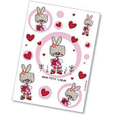 Komar Mon Petit Coeur Peel and Stick Wall Sticker