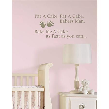Pat A Cake Nursery Rhymes Sticker - Wall Sticker Outlet