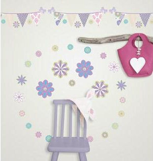 Patchwork Daisy Complete Room Decal Package - Wall Sticker Outlet