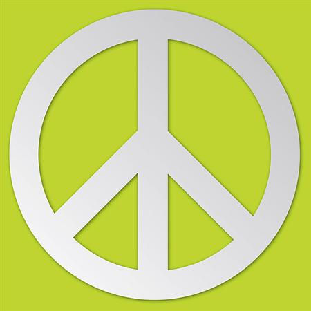 Peace Peel and Stick Mirror Set - Wall Sticker Outlet