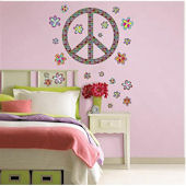 Peace Sign Wall Art Sticker Kit