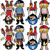 Argh Pirates Blox Peel and Stick Decals