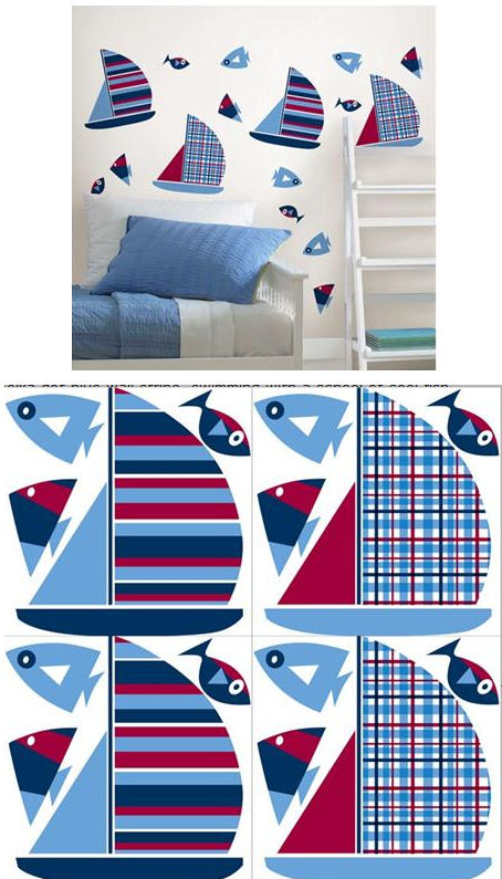 Regatta Sailing Boats Peel and Stick Decals - Wall Sticker Outlet
