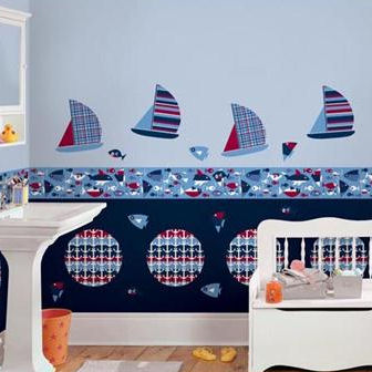 Regatta Sailing Decal Complete Room Package - Wall Sticker Outlet