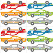 Rally Racers Blox Peel and Stick Decals