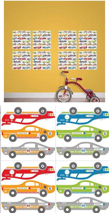 Rally Racers Blox Peel and Stick Decals - Wall Sticker Outlet