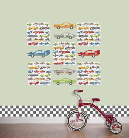 Rally Racers Decals Complete Room Package - Wall Sticker Outlet