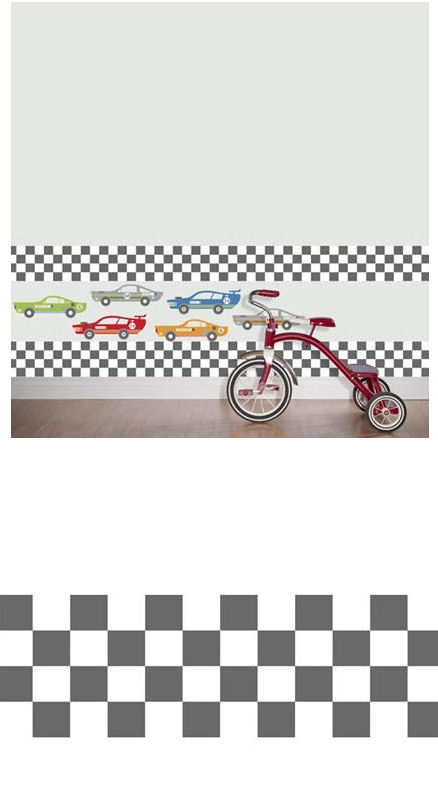Rally Racers Stripes Peel and Stick Decals - Wall Sticker Outlet