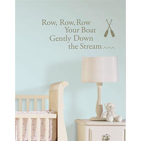 Row Your Boat  Nursery Rhymes Sticker - Wall Sticker Outlet