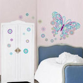 Social Butterfly Peel and Stick Decals