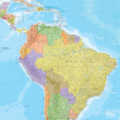 South America Dry Erase Map