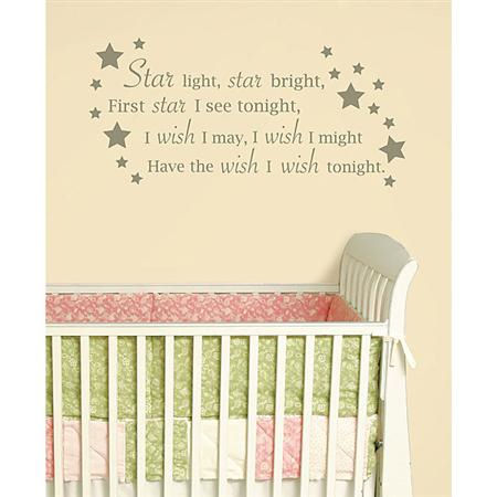 Star Light Star Bright Wall Wishes Sticker - Wall Sticker Outlet