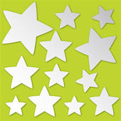 Stars Peel and Stick Mirror Set