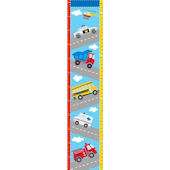 Transportation Peel and Stick Growth Chart Decal
