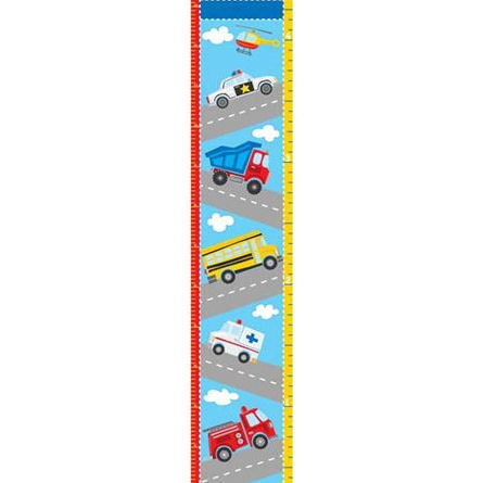 Transportation Peel and Stick Growth Chart Decal - Wall Sticker Outlet