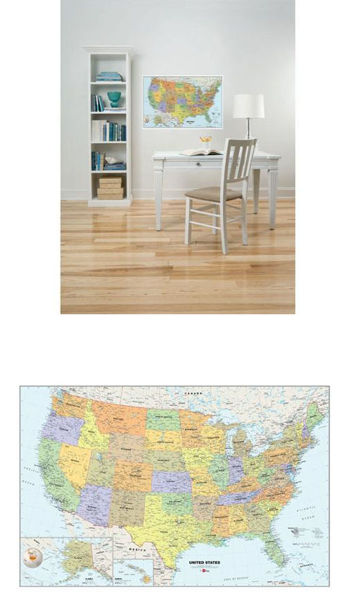 USA Wall Map Dry Erase Wall Sticker - Wall Sticker Outlet
