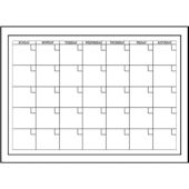 White Monthly Dry Erase Calender Wall Sticker