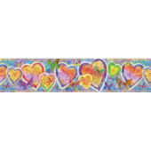 Bright Hearts and Butterflies Border