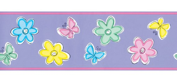 Bedtime Butterfly Pre-pasted Wall Border - Kids Wall Decor Store