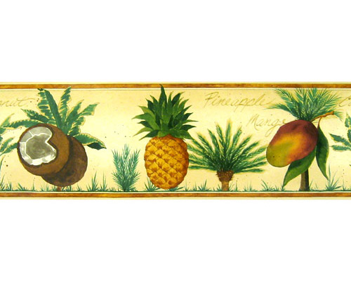 Mango Bay Pre-pasted Wall Border SALE - Wall Sticker Outlet